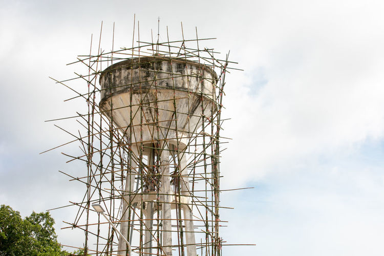 Architecture Building Exterior Built Structure Cloud - Sky Construction Site Day Development Fuel And Power Generation Incomplete Industry Low Angle View Metal Nature No People Outdoors Plant Ruined Scaffolding Sky Tall - High Tower