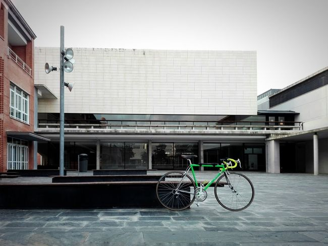 Bicycle Architecture Built Structure Transportation Building Exterior Mode Of Transport Day City No People Outdoors Ghetto Hood Street Urbangathering Art Weekend Activities Perspective Sports Activity Vscocam VSCO City Architecture Sport Skill  Solitary Moments The Week On EyeEm Your Ticket To Europe EyeEmNewHere