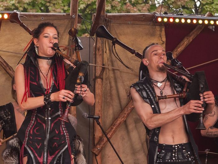 Irdorath Festival Two People Playing Music Togetherness Rock Group Historic Histoticalmoment Bagpipes Pipes Renaissance Festival
