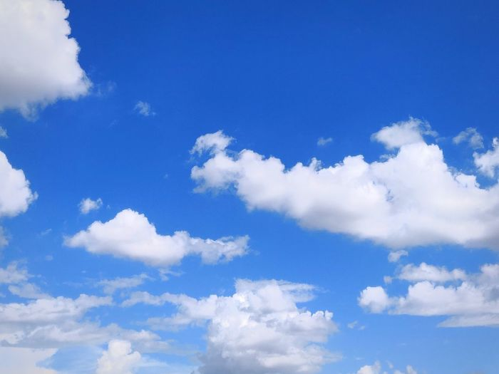 Cloud with blue