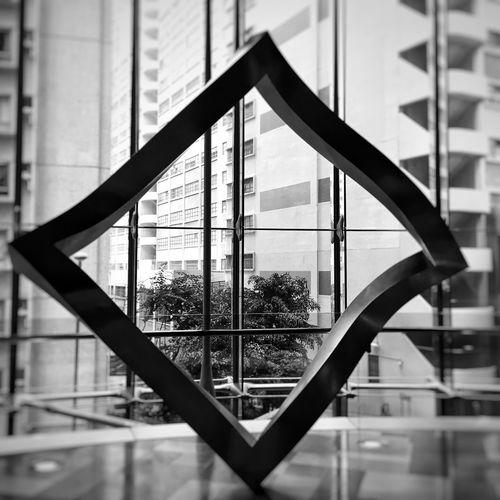 Black And White IPhone Black And White Photography Black And White Collection  Urban Art Urban Geometry Hong Kong Architecture Office Building Metal Art Metal Sculpture Metal Structure Square Shape Stylized Square Hong Kong Building Modern Sculpture Art Art Work Geometric Shape Monochrome Photography Adapted To The City Break The Mold The Architect - 2017 EyeEm Awards The Architect - 2017 EyeEm Awards The Graphic City