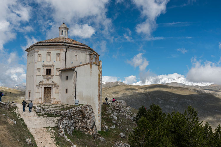 Panoramic view of church against sky