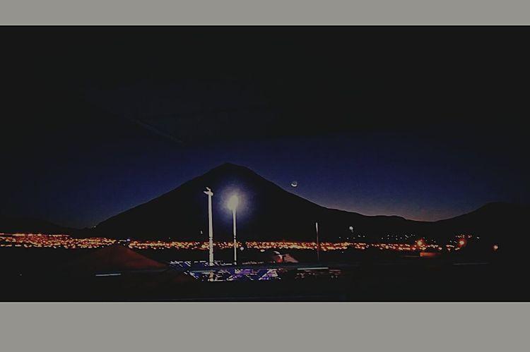 Arequipa - Peru Misti Volcano Morning View Work 4am