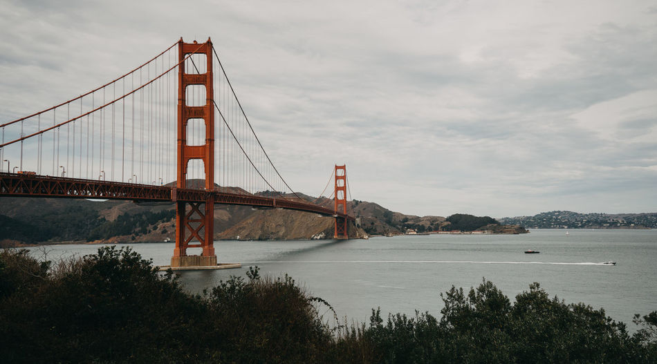 Golden Gate Bridge San Francisco San Francisco Bay California California Coast Bridge Bridge - Man Made Structure Suspension Bridge Connection Water Built Structure Architecture Sky Transportation Cloud - Sky Engineering Travel Destinations Tourism Bay Of Water Nature City Travel Outdoors Bay