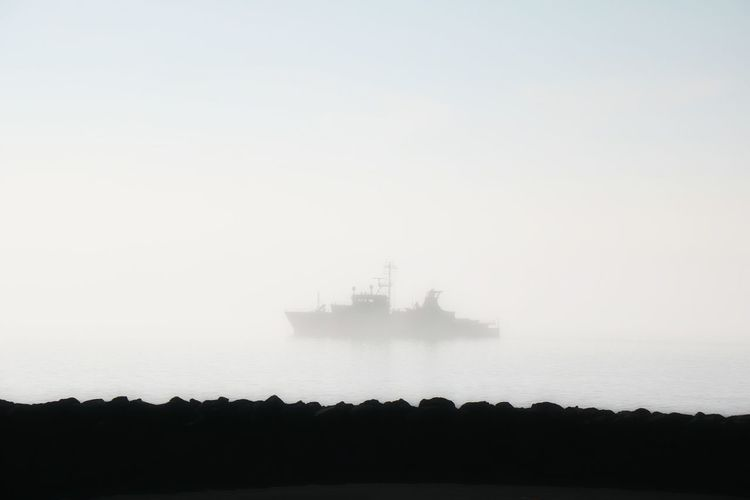 Foggy Weather Foggy Morning Ship In The Fog Capture The Moment Ship Foggy Njarðvik Morning Fog...
