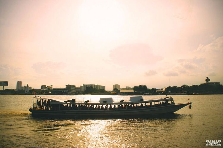 Thailand Boat River Sunset