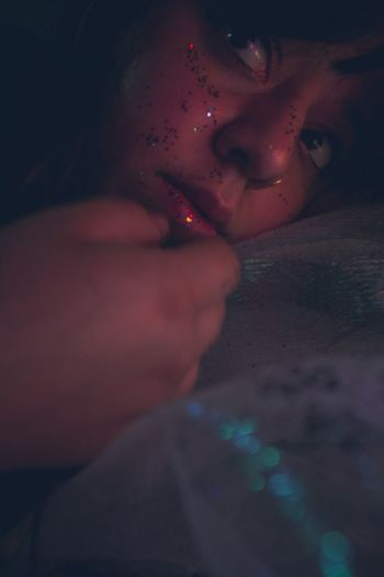 Woman Eyes Big Eyes Glitter Glittering Dream Dreamy Lightroom Blue Bluehues Selfportrait Purplehues Purple Pink Pinkhues Interesting Perspectives EyeEmNewHere NewToEyeEm Eerie Orange Red Portrait Of A Woman Self Rockford Il Sparkling Human Hand Women Spooky Human Face Close-up