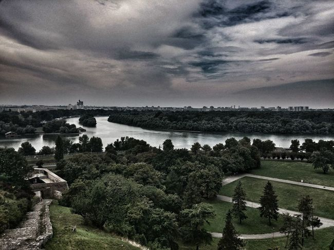 Water Tranquil Scene Sky Tree Tranquility Cloud - Sky Beauty In Nature Nature Calm Cloudy Non-urban Scene Outdoors The Way Forward No People EyeEmBestPics LG Camera EyeEm Best Shots EyeEm Best Edits Kalemegdan  Kalemegdan Fortress Mouth Of The River Danube And Sava River Belgrade,Serbia Your Ticket To Europe Been There.