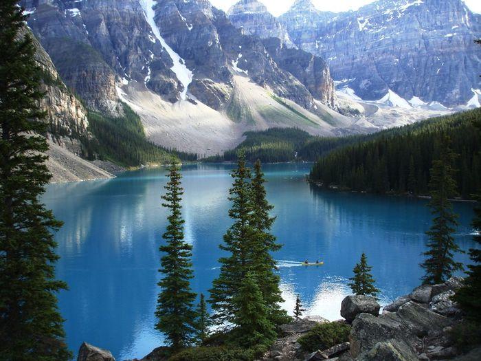 Scenic View Of Moraine Lake
