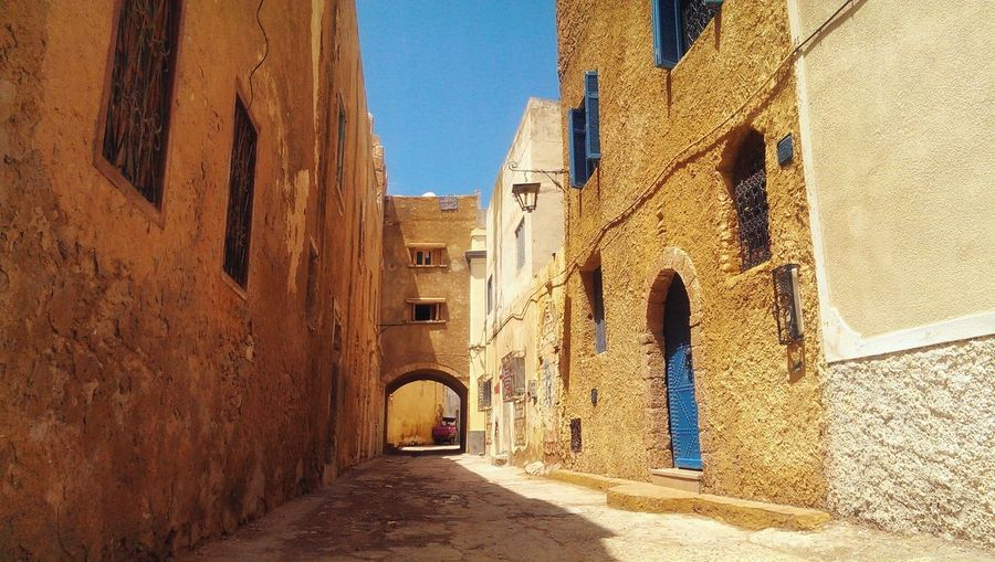 Taking Photos Hanging Out Building Exterior Geometry Building Morocco History Architecture Old Historic Traveling Travel Mazagan Composition Perspective Street