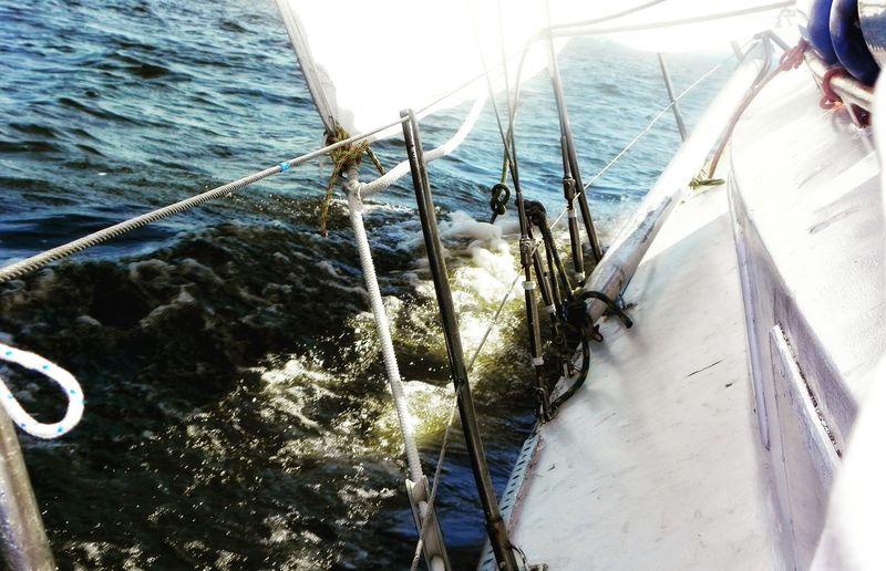 Yaht Jacht żeglowanie Sailing Fale Waves Waves Crashing Na Pokładzie On Board Relaxing Enjoying Life