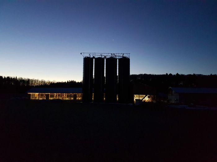 Aussiedlerhof Cattle Cow Stable Silo Morning Dawn Cow Shed Cattle Shed Sky Sunrise - Dawn