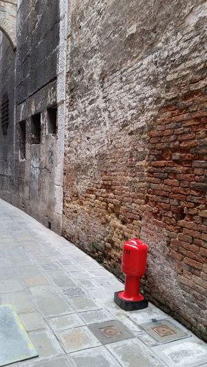 Architecture Building Exterior Built Structure Day Fire Hydrant No People Outdoors Post Box  Postal Box Red Wall - Building Feature
