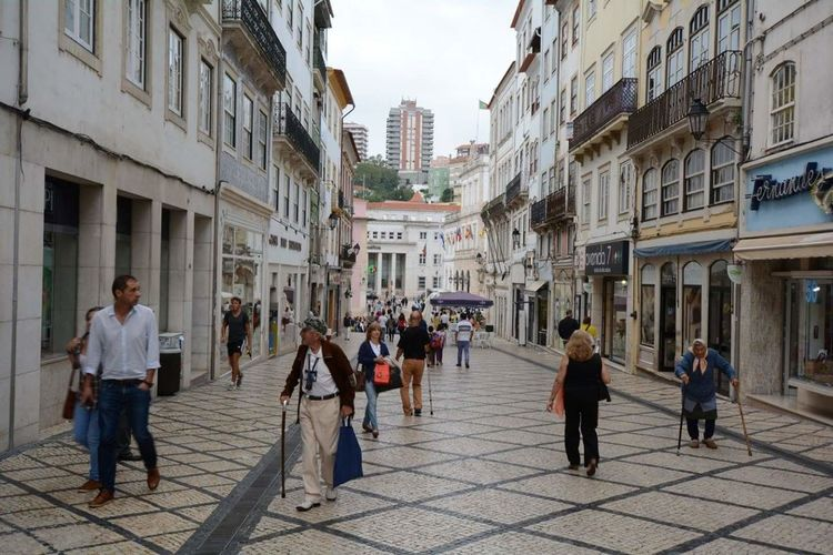 Building Exterior Architecture City Walking Built Structure Large Group Of People People Outdoors Coimbra Portugal