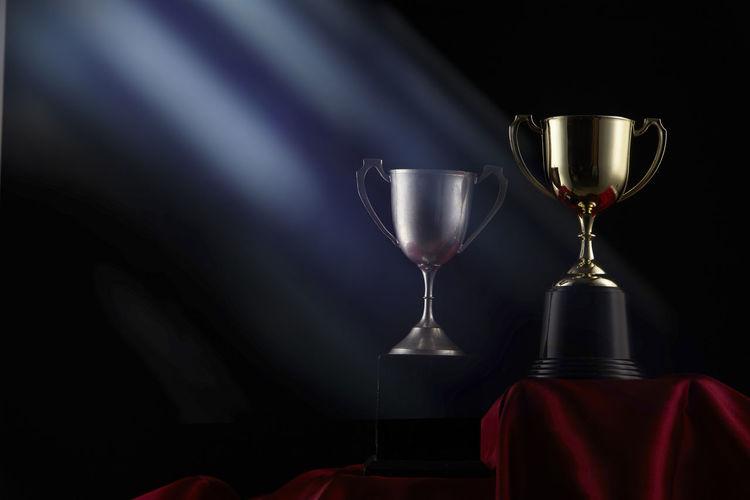 Trophies in darkroom