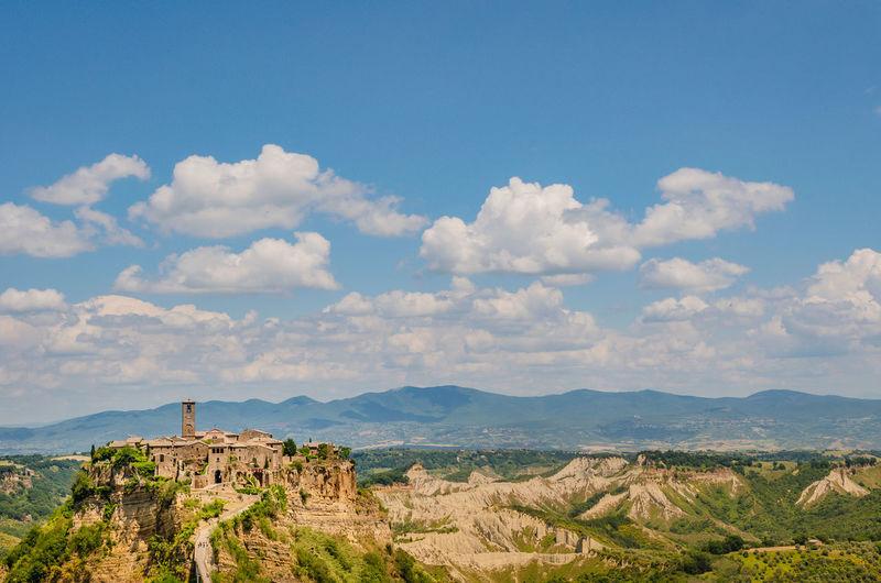 Civita di bagnoregio and scenic landscape in tuscany