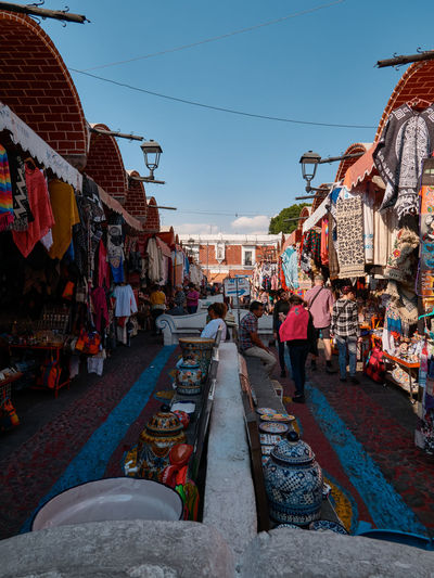 Panoramic view of market stall
