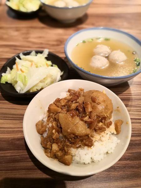 Braised Pork Rice Braised Pork Rice Penang Food Penang Food, Chinese Food Plate Bowl Soup Close-up Food And Drink
