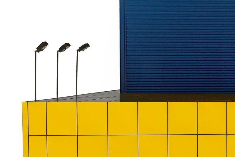 Lighting Equipment On Yellow Wall
