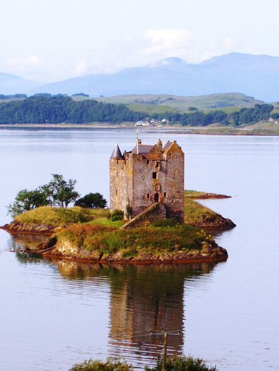 Scotland Castle Island Bucolic Landscape OnceUponATime..... Outdoor Photography Enjoying Life Enjoying The View Reflection_collection Castle RuinReflections In The Water Lake Relaxing Loch  Castle Stalker Castle In Ruins Feel The Journey