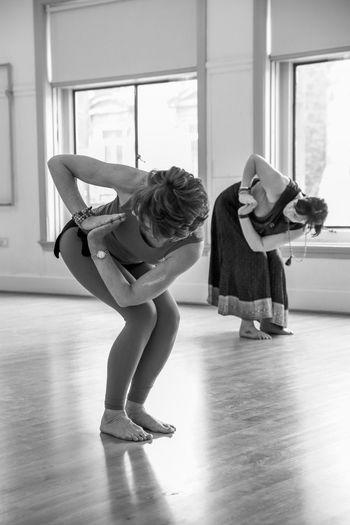 Nia Full Length Women Indoors  Dancing Lifestyles Real People Practicing Ballet Ballet Dancer Ballet Studio Females Balance Skill  Childhood Exercising Healthy Lifestyle People Child Wood Flooring