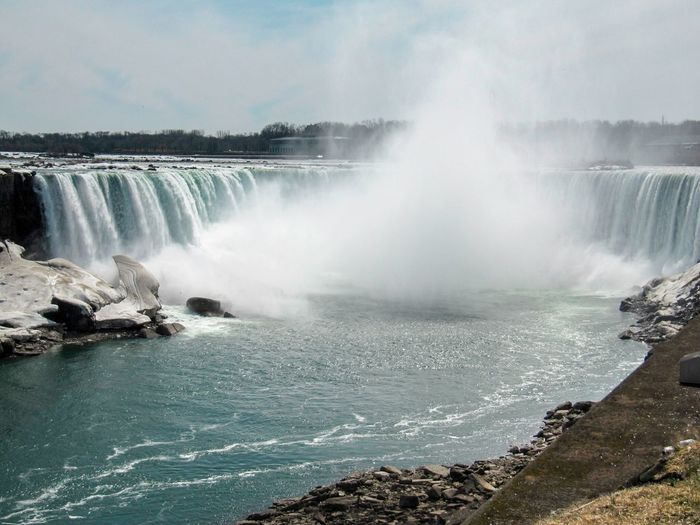New York Niagara Niagara Falls Ontario USA United States Beauty In Nature Blurred Motion Canada Falls Flowing Water Motion Nature No People Outdoors Power In Nature Spraying Travel Destinations Water Waterfall Waterfalls Perspectives On Nature