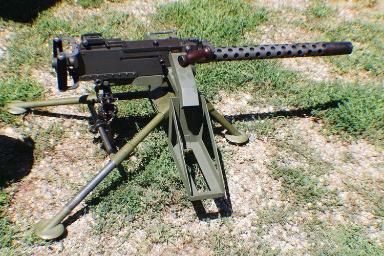 Machine Gun Gun Guns 1919 Gun Barrel Automtic Weapon Rifle War Grass Color Green Army Style Weapons Of War Warefare Automatic Rifle Browning