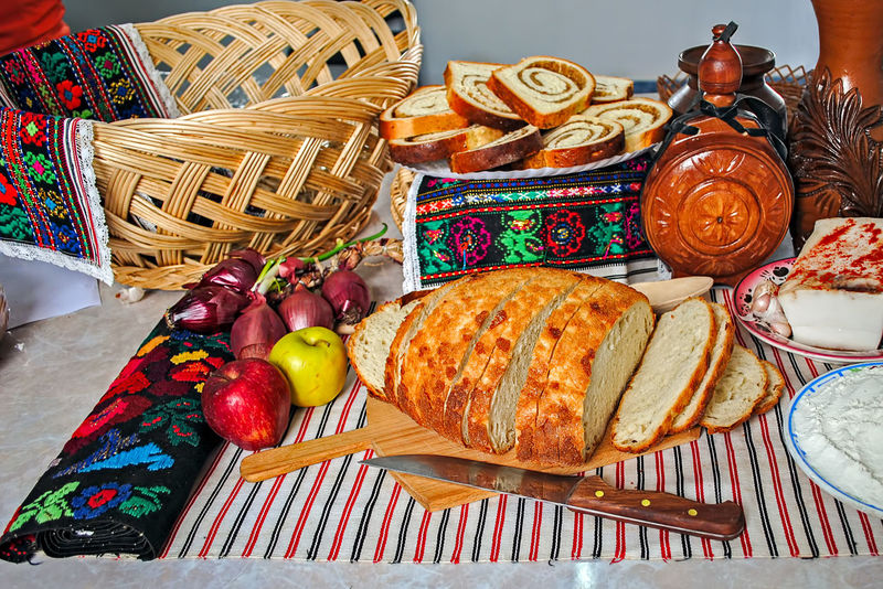 Romanian traditional meal arrangement Romanian Tradition Apple - Fruit Basket Bread Day Egg Food Food And Drink Freshness Indoors  Multi Colored No People Picnic Basket Ready-to-eat Romanian Food Table Variation