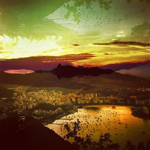 VSD! Very Special day! Very Special People! Very Special Pic! Sugarloaf view with SalvadorLens Hipstamatic 💖💖💖☀✨ To @flaviaburjato & @churrito ✨✨✨ Igersrio Igersbrasil