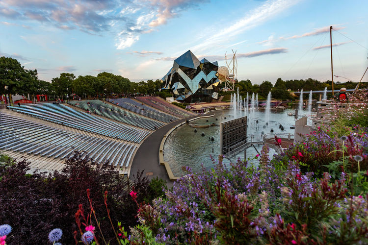 Futuroscope Theme Park Futuroscope Theme Park | Poitiers - France Futuroscope2017 Leisure Park Architecture Building Exterior Built Structure City Cloud - Sky Day Nature No People Outdoors Sky Tree Water