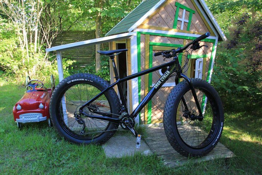 Out Of Proportion Fatbike Handbuilt Saga Cykler Uneven Bike Transportation