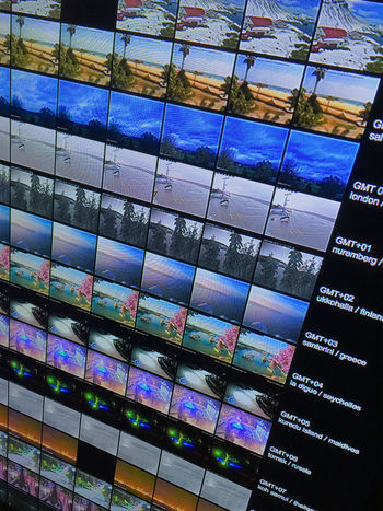 video wall Auto Post Production Filter Communication Geometry Glass - Material Indoors  IPhoneography Iphonephotography Reflection Technology Transfer Print Video Videos