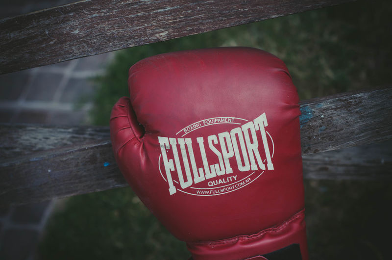 Box Box Gloves Boxing - Sport Capital Letter Close-up Communication No People Non-western Script Outdoors Protection Red Text Western Script Wood - Material