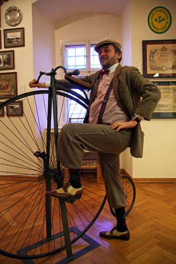Bycicle rider,Live Pictures,Zagreb City Museum,Croatia,Europe Ancient Bycicle Bycicle Bycicle Rider City Costume Croatia Culture Eu Europe Exhibition Expo History Live Pictures One Man Only One Person People Reminiscence Rider Standing Zagreb Zagreb City Museum