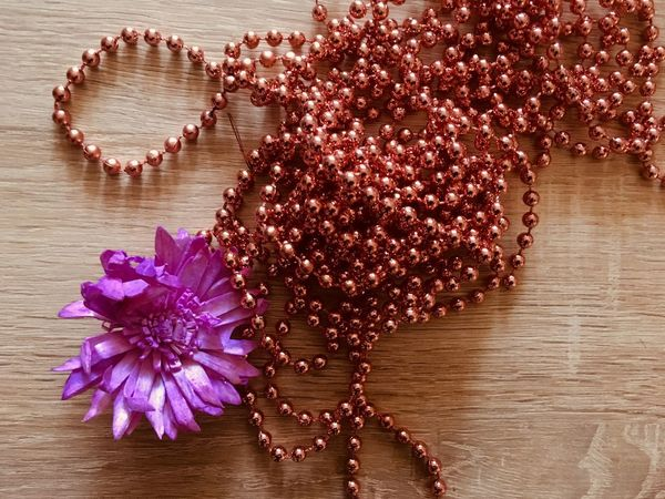 Flower decorations Decorations Purple Table Flower Wood - Material No People Water Close-up Indoors