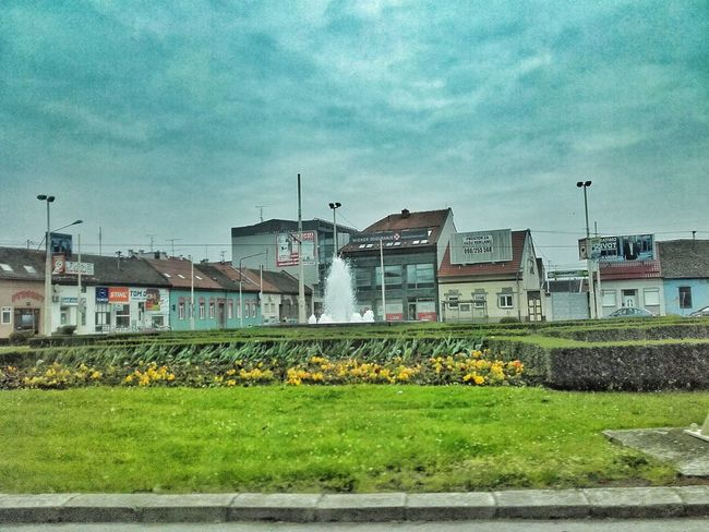 Built Structure Architecture Building Exterior Outdoors Rural Scene Agriculture House Day Growth Sky Nature Freshness Photography Beauty In Nature Springtime Dramatic Sky City Osijek, Croatia Fountain Flowers