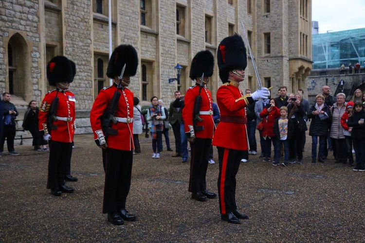 Serious. Marching Real People Red Built Structure Military Uniform Parade Building Exterior Uniform Men Large Group Of People Day Outdoors Architecture People Adult London Lifestyle