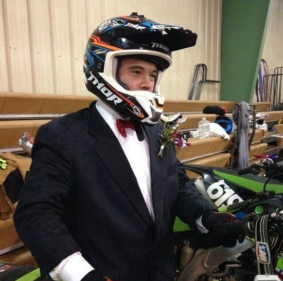 My boyfriend races in a tux . MotocrosssArenacrosssBoyfriendnd