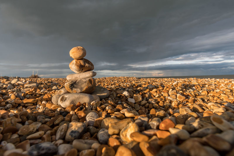 Walimex 12mm Beauty In Nature Cloud - Sky Day Large Group Of Objects Nature No People Outdoors Pebble Pebble Beach Rock - Object Sky Stack Stone - Object