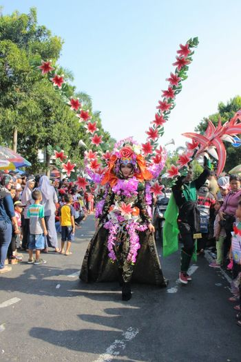 Large Group Of People Flower Outdoors Day Karnival
