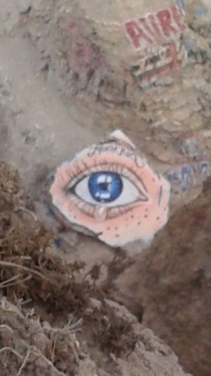 Close-up Person Day Human Eye No People Memories Circle Extreme Close Up Weathered Geometric Shape Graffiti Graffiti Art Sunken City Sunkencity Sunkencities Sunken Cities