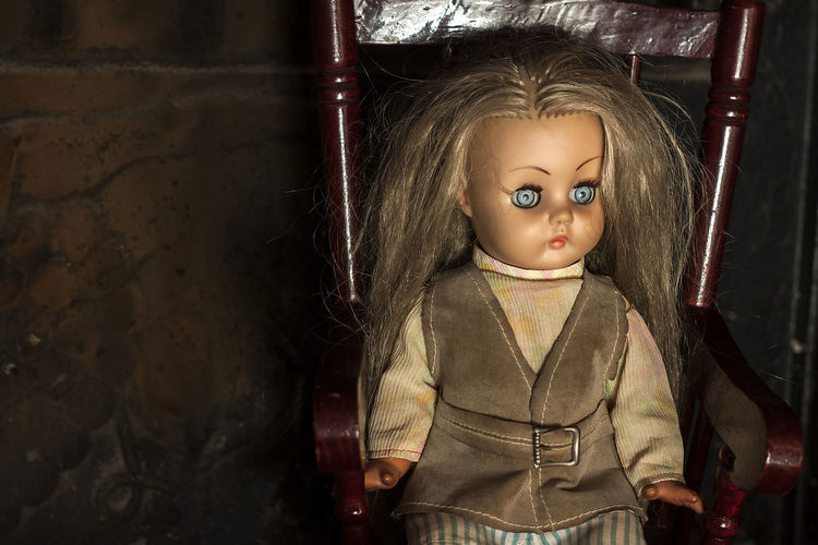 Doll Evil Eye Creepy Face Indoors  One Person Portrait