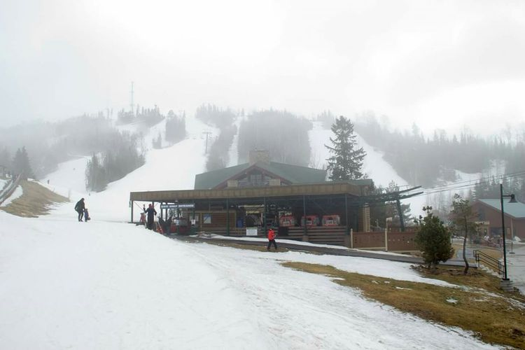 Foggy Foggy Weather Foggy Morning Fogporn LutsenMountains Minnesota Skihill Skilutsen Skiing ❄