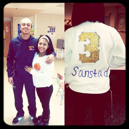 Supporting Deon tonight at his basketball game ' love you kiddoo (: