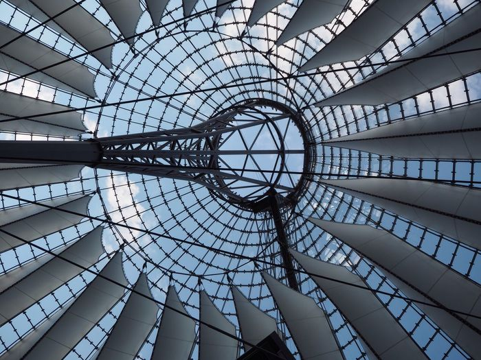 Berlin Potsdamer Platz Potsdamer Platz Berlin Indoors  Architecture Low Angle View Built Structure Modern No People Backgrounds Sky Day