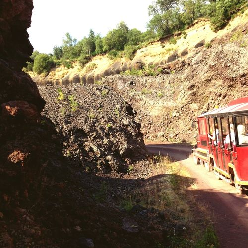 Auvergne France Guided Tour Earth Cratere Crater Profondeur Red Terre Rock Roche Nature Landscape Volcano Visiting Small Train Train Petit Train Volcán Visite