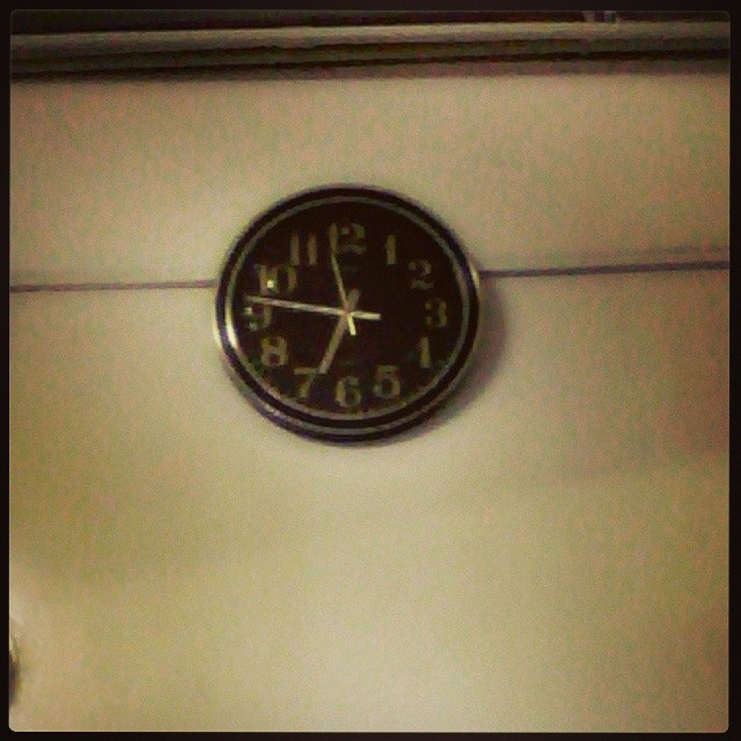 clock, transfer print, time, number, indoors, auto post production filter, circle, old-fashioned, close-up, clock face, retro styled, wall - building feature, communication, no people, metal, old, text, technology, accuracy, transportation
