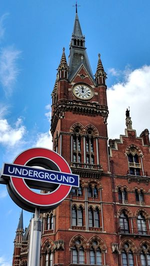 London underground Underground London Blue Sky City Business Finance And Industry Red History Tower Architecture Building Exterior Clock Tower Cityscape Skyscraper Skyline