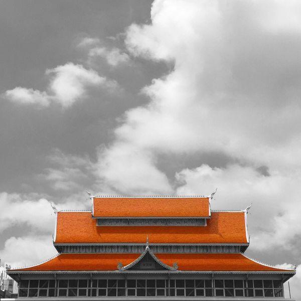 Temple Bangkok Sunset #sun #clouds #skylovers #sky #nature #beautifulinnature #naturalbeauty #photography #landscape Buddhism Buddhist Temple Thailand Buddha Temple Thailandtravel Taking Photos Iphonephotography Thaiculture