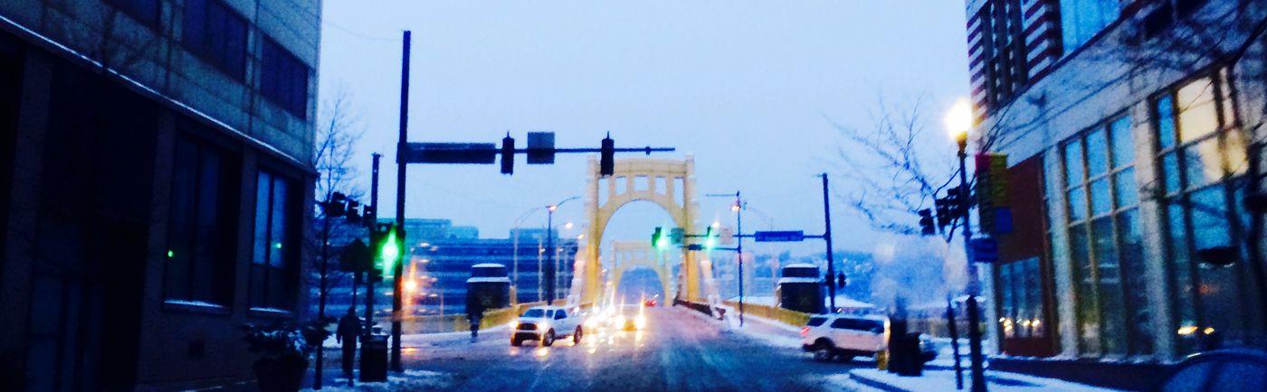 Frozen City Sunset Spinout Streetphotography